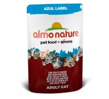 Almo Cat Nat.mačka kaps Azul Label kura + hovädzie 70g