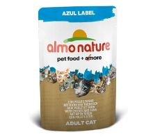 Almo Cat Nat.mačka kaps Azul Label kura + tuniak 70g
